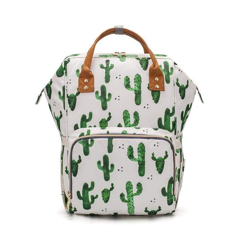 Monogrammed Cactus Diaper Bag Backpack