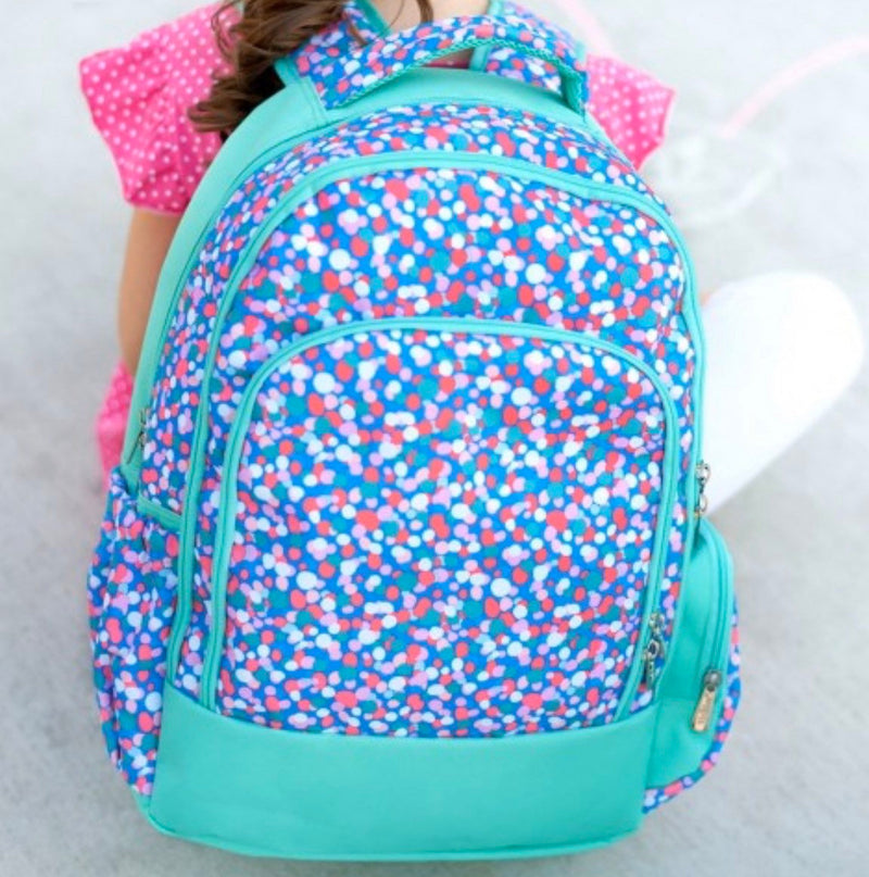 Monogrammed Confetti Pop Backpack