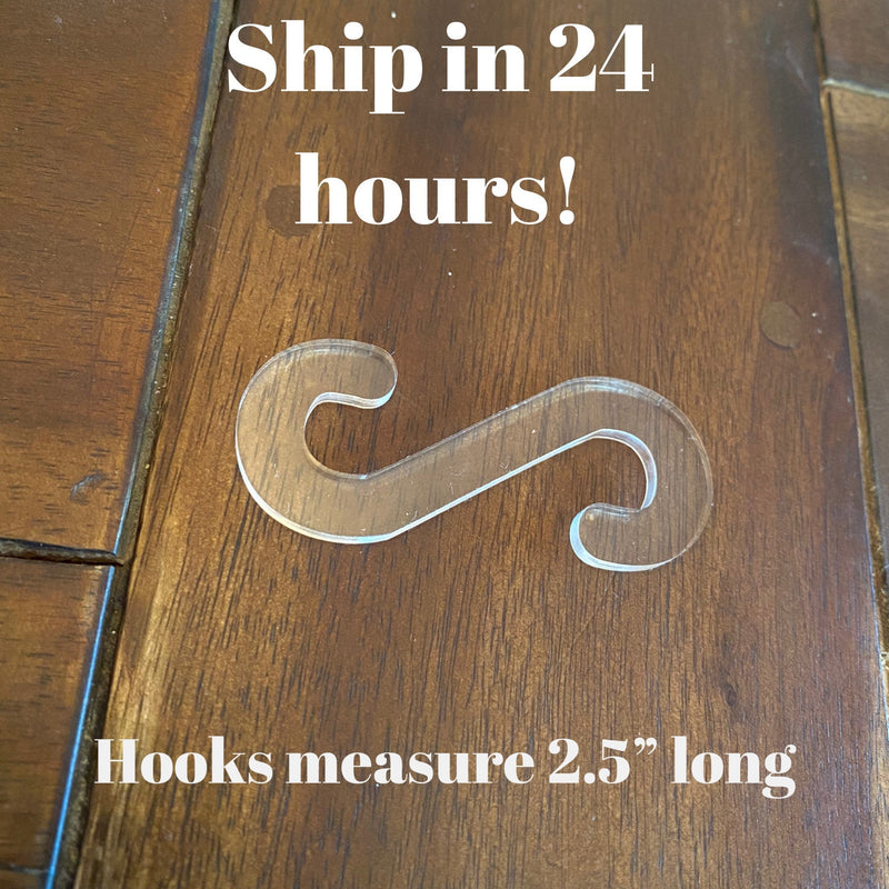 S hooks for face masks, comfort hook clip, ear savers, ships in 24 hours