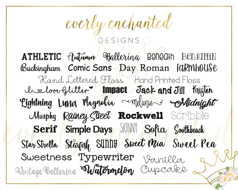 Do Not Purchase - Fonts - Everly Enchanted