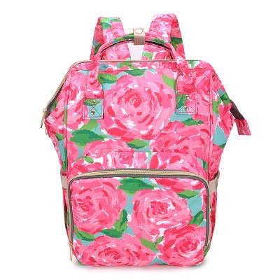 Monogrammed Lilly Inspired Diaper Bag - Rose