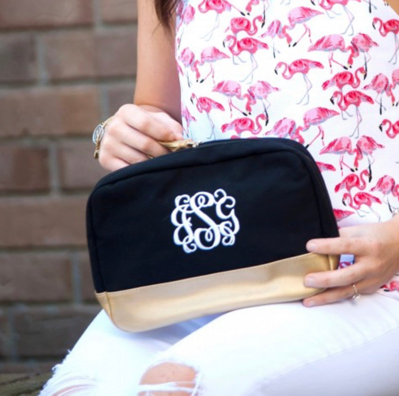 Black Tassel Cosmetic Bag