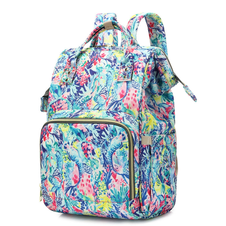 Monogrammed Lilly Inspired Diaper Bag - Mermaids