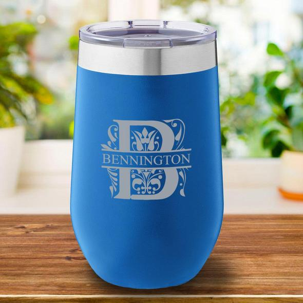 Personalized Blue Tumbler Cup