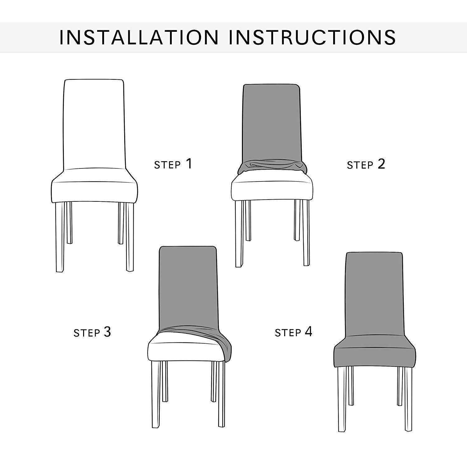 Chun Yi Seersucker Jacquard Polyester Spandex Fabric Stretch Dining Chair Slipcovers Furniture Covers Protector
