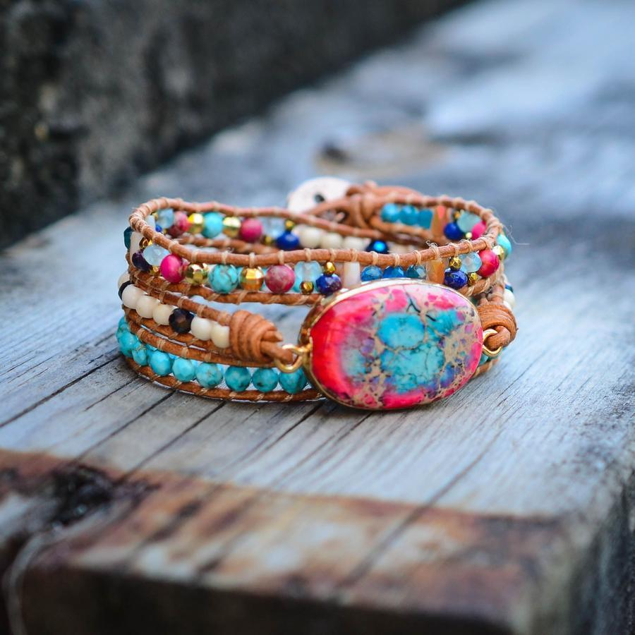 BOHO-CHIC HEILUNGS-WICKELARMBAND