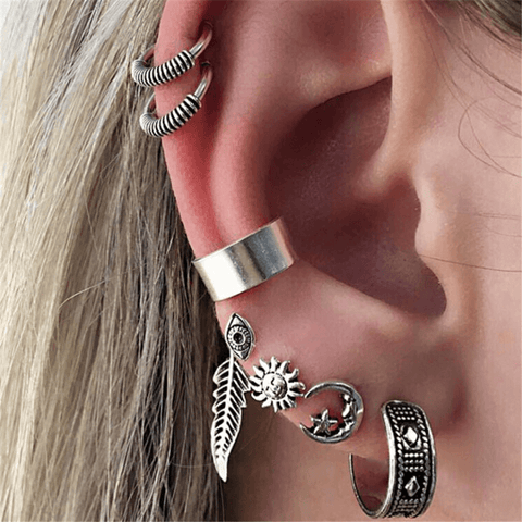 Bohemian   retro seven-piece earrings
