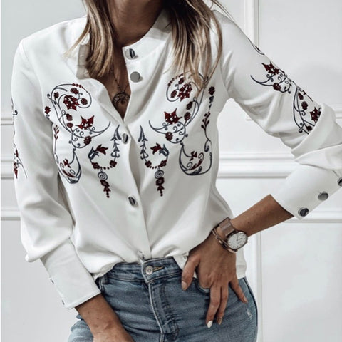 Fashion Simple Printed Blouse