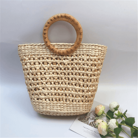 Fashion Holiday Summer Straw Weave Handbag