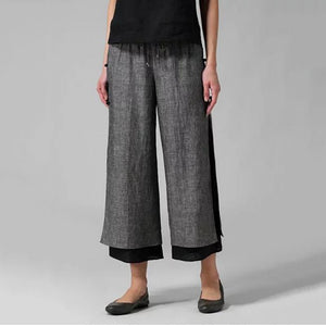 Fashion Casual Solid Color Wide Leg Pants