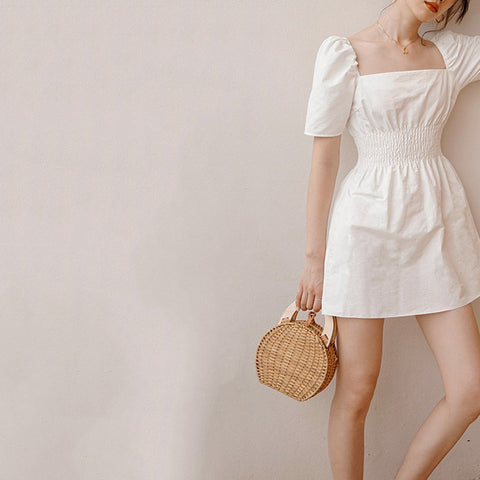 Pastoral Style Casual Straw Bag Clutch Bag Messenger Bag