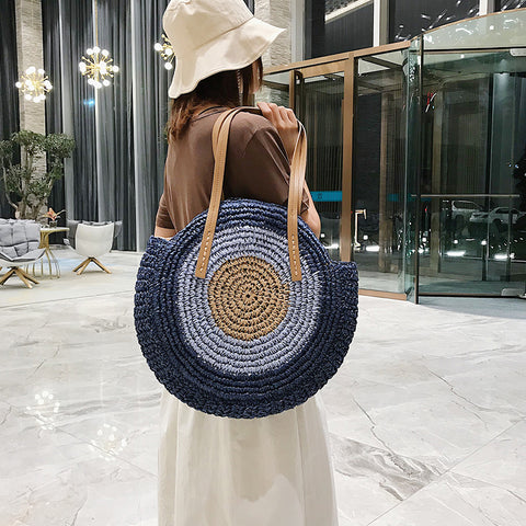 Bohemian Retro Pastoral Style Straw Bag Shoulder Bag Clutch Bag