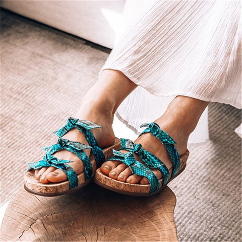 Bow Comfortable Flat Slippers