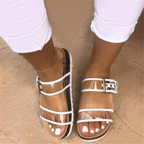 Women's Casual PVC Summer Beach Flat Slipper