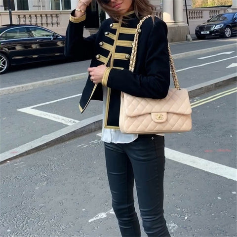 Ethnic British Style Cardigan Coat