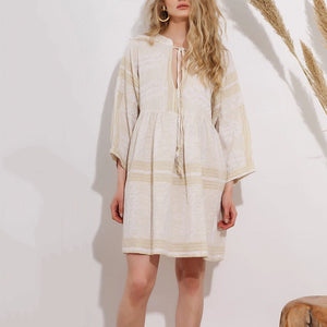 Casual Long Sleeve Loose Mini Dress