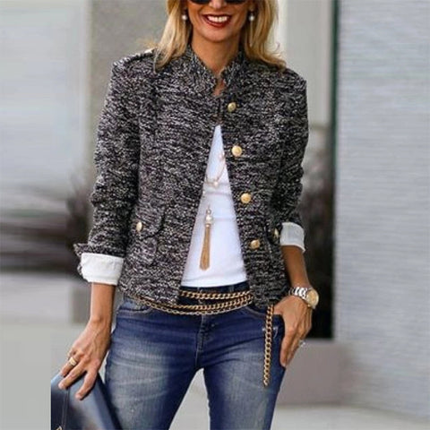 Fashion Single-Breasted Long Sleeve Blazer