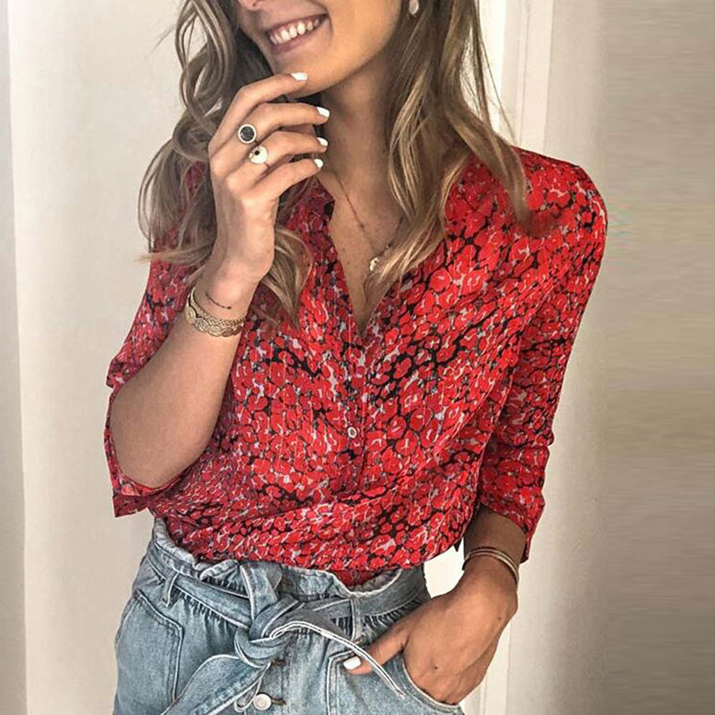 Fashion Long Sleeve Printed Shirt