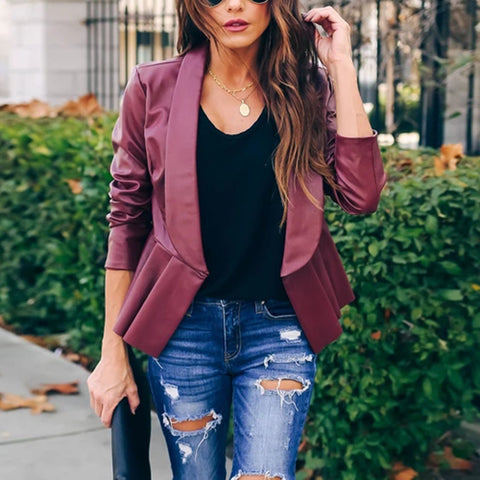 Imitation Leather Jacket