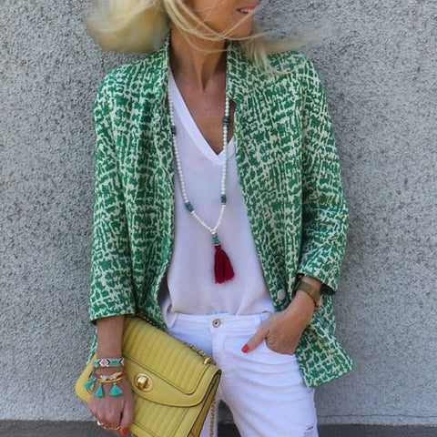Stylish Solid Color Single Button Blazer