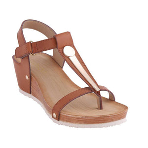 Metal T type with magic paste toe slope and cork sandals