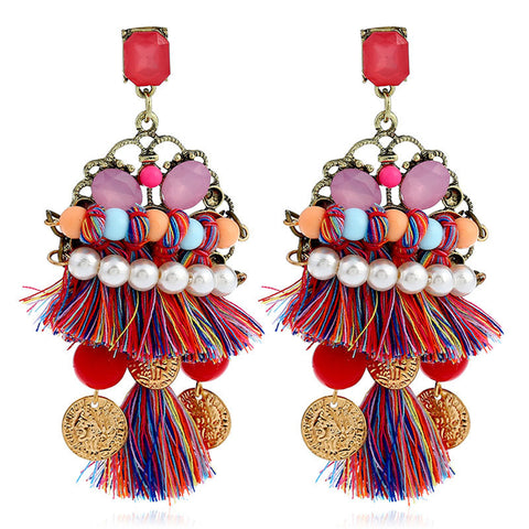 Fashion tassel vintage boho earrings
