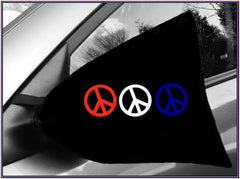 mmm-side view mirror cover-peace sign