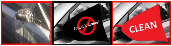 mmm-side view mirror cover-red circle-birds-clean-combo