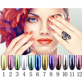 12 Colors Mirror Chrome Powder - Nail