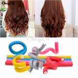 SOFT FOAM BENDY HAIR CURLER ROLLERS×12 Pcs