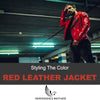 Styling The Red Leather Jacket - How To Wear That Much Color