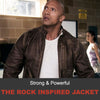 "Strong & Powerful: Dwayne ""The Rock"" Johnson Inspired Leather Jacket"
