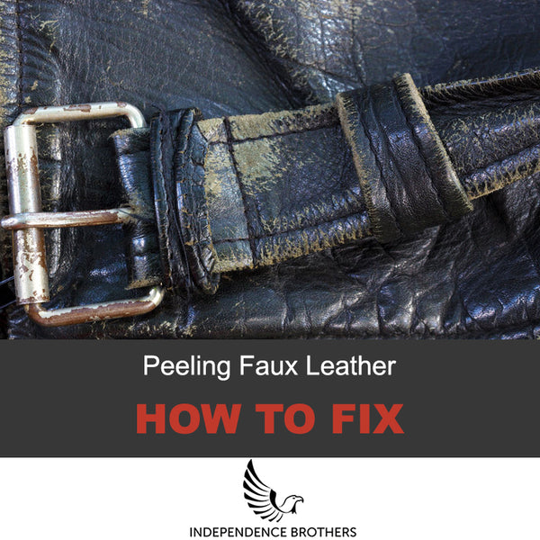 How To Fix Peeling Faux Leather Jacket
