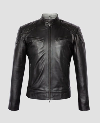 PHYSICAL - The Snap Collar Quilted Moto