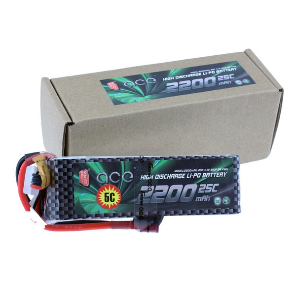 Gens ACE 3S 11.1V 2200mah 25C Lipo Battery Lithium Battery for Four Axis Fixed Wing Car Boat