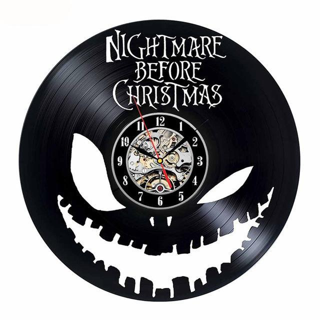 the nightmare before christmas vinyl wall clock - Nightmare Before Christmas Clock