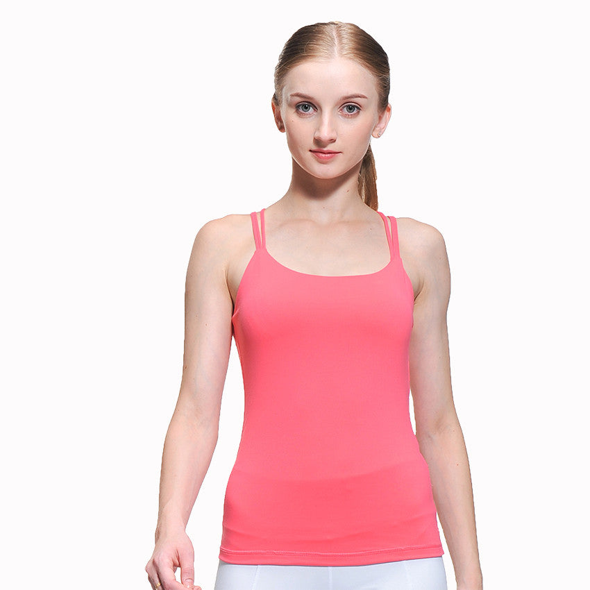 f21db3ef5f ... Running Gym Tank Top Singlets Female Colourful Outdoor Wear Vest T.  Thank Top Back great support sleeveless shirt for yoga and other sport  activities