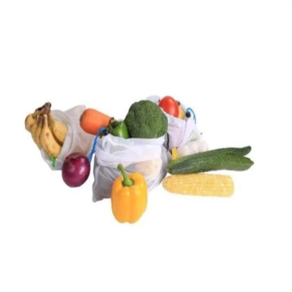 Explosion models supermarket environmental protection fruit mesh  bag vegetable mesh storage bag polyester splicing bundle pocket custom