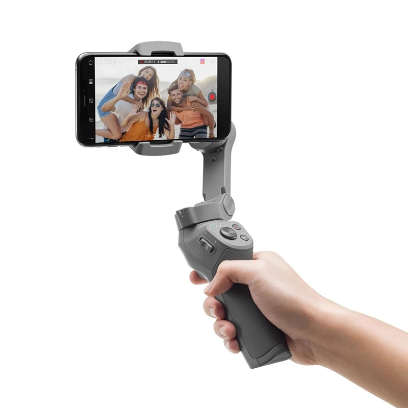 Latest Upgraded Ergonomic Grip Foldable Smartphone Gimbal Stabilizer with Multiple Intelligent Controls