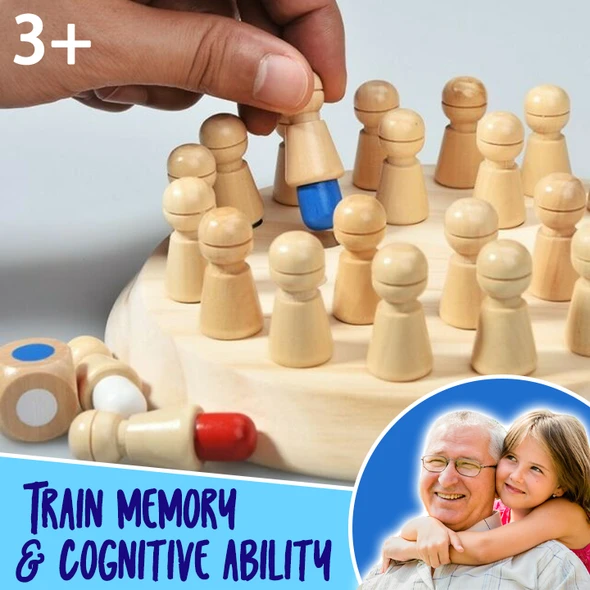 (BUY 2 Free Shipping) Wooden Memory Chess and Learning Board Game for Kids