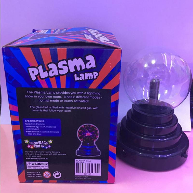 Touch-sensitive ion ball night light