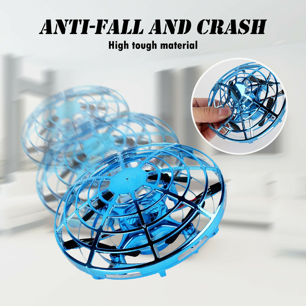 Hand Flying UFO Ball LED Mini Induction Suspension RC Aircraft Drone Toy Gift