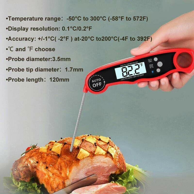 Meat Thermometer Portable Digital Grill Instant Read Food Cooking Grill Kitchen