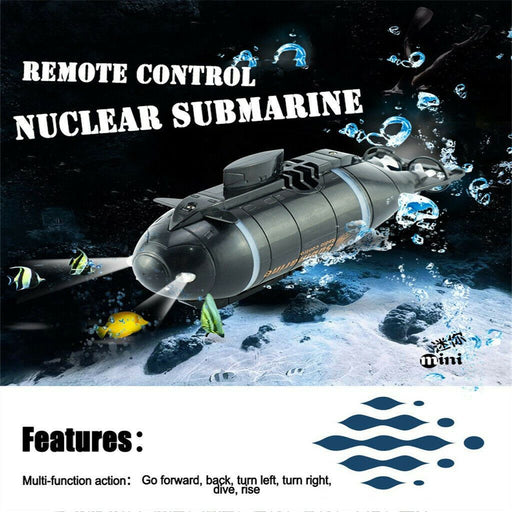 RC Submarine Speed Boat Remote Control Pigboat Simulation Model Gift Toy Kids Transmitter 6 Channels