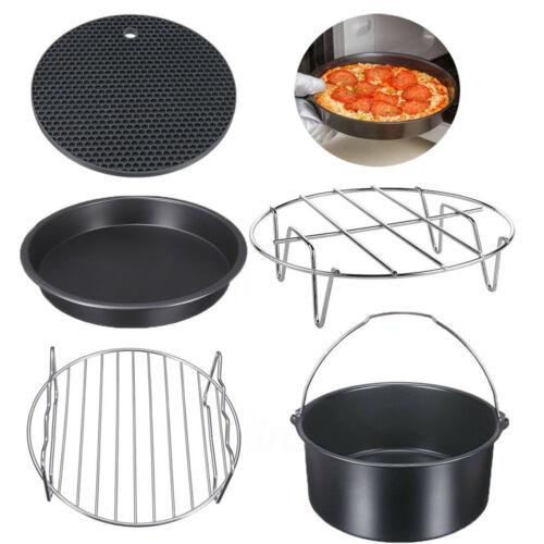 "7"" 5PCS Air Fryer Accessories Healthy Airfryer Chips Baking Set Cake Pizza Pan 3.2-5.8QT"