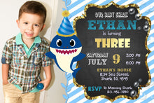 BABY SHARK BIRTHDAY INVITATION, DIGITAL FILE, PRINTABLE, PERSONALIZED FILE 4X6 OR 5X7