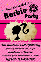 Barbie Party Birthday Invitation