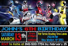 POWER RANGER NINJA STEEL Birthday Invitation, Digital File, Printable, Personalized File 4x6 or 5x7