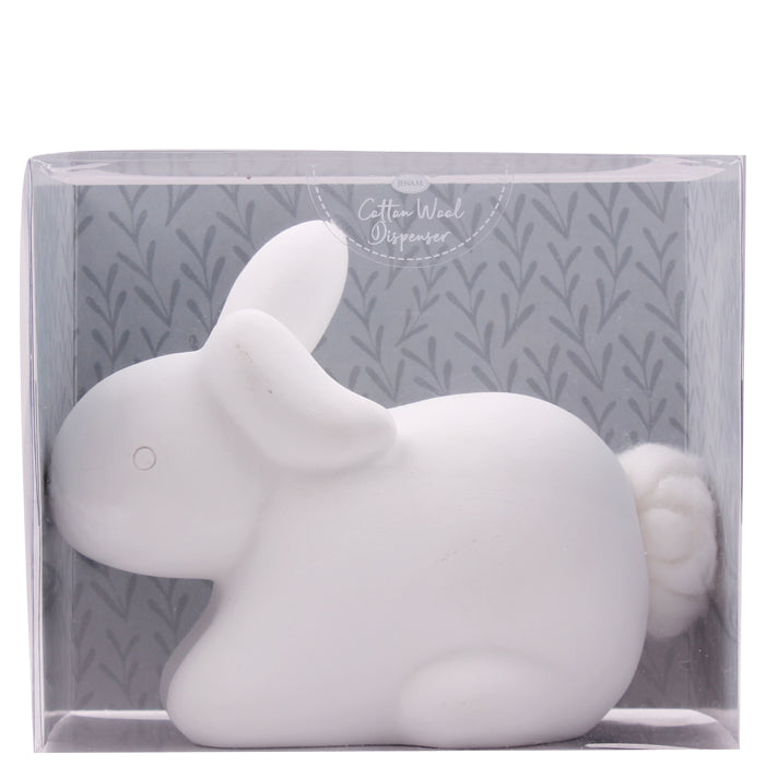 Cotton Tail Ceramic Bunny Cotton Wool Dispenser