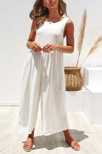 Sexy Backless Lose Wide Leg Jumpsuits